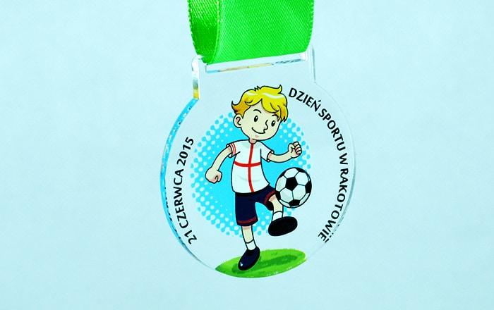 Kolorowe medale sportowe