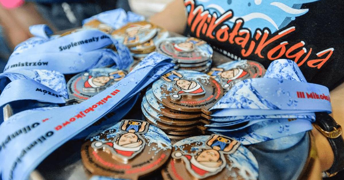 Medale sportowe metalowe dla pływaków