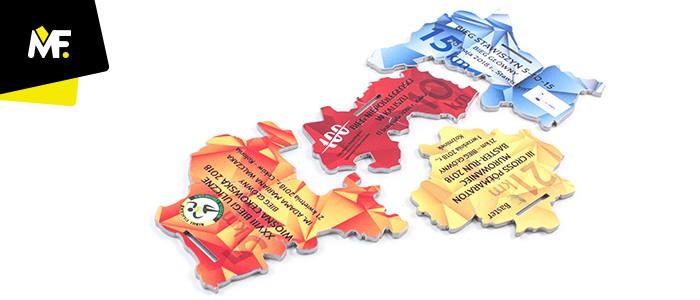 Medale puzzle biegowe