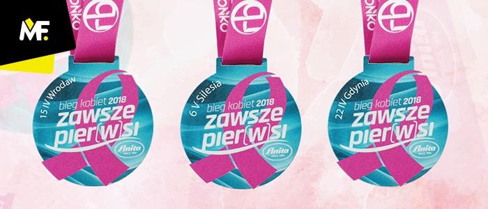 Medale na Bieg Kobiet 2018 ZAWSZE PIER(w)SI