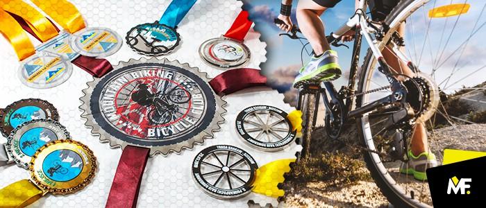 Medale dla rowerzystów