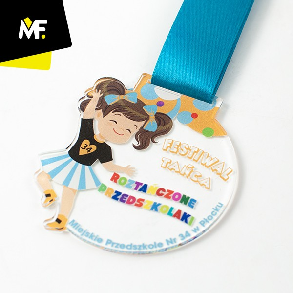 Medal dla dzieci, Festiwal tańca, Miejskie Przedszkole nr 34 w Płocku