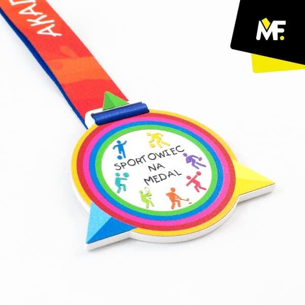 Sportowy medal dla dzieci personalizowany