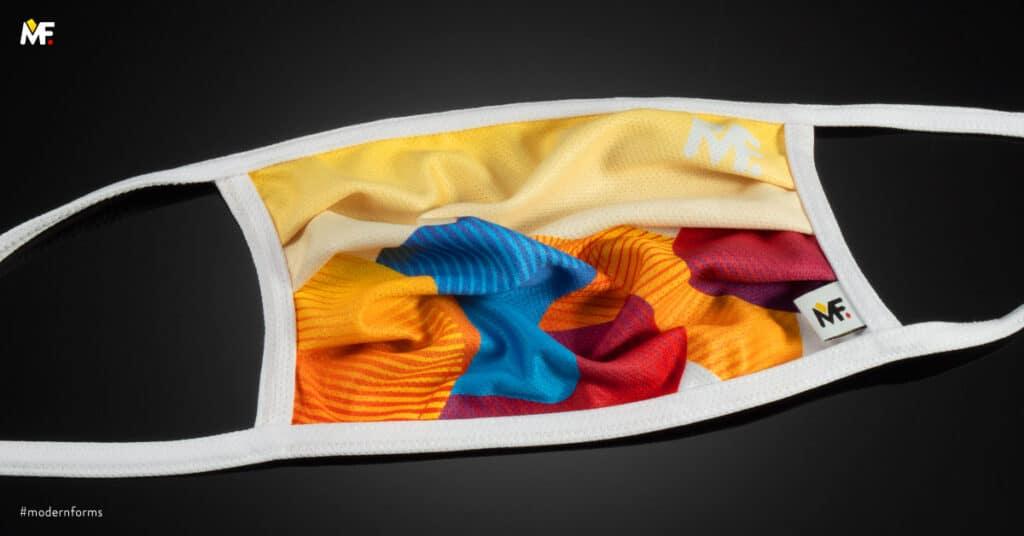 kolorowa maseczka sportowa