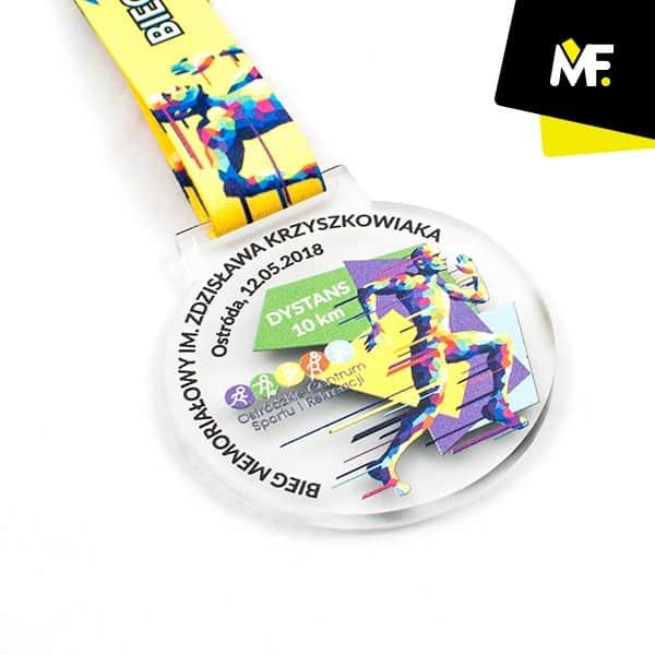 Medal sportowy Bieg Memoriałowy Zdzisława Krzyszkowiaka 2018