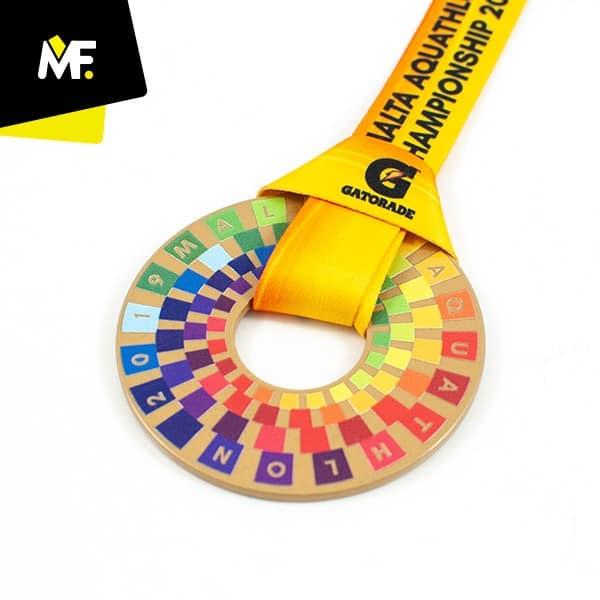 Medal sportowy kolorowy aquathlon