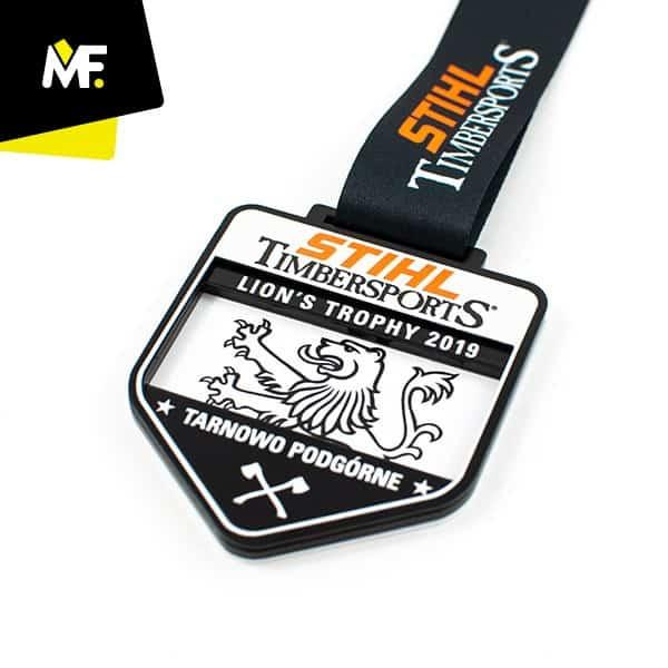 Medal czarno-biały STIHL Timbersports