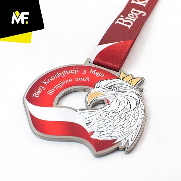 Medal Bieg Konstytucji 3 Maja Strzyżów 2018