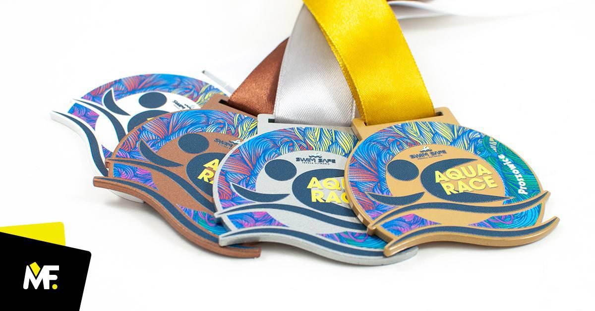 Medale sportowe pływackie Aqua Race Proszowice