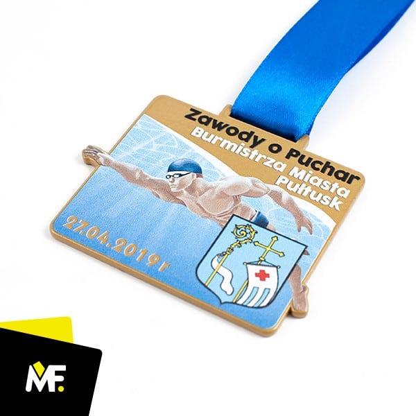 Medal pływacki Zawody oPuchar Burmistrza Miasta Pułtusk