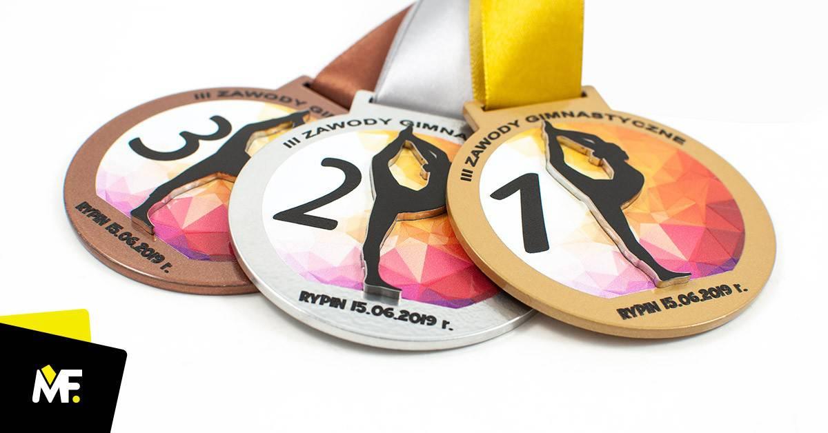 Medale gimnastyczne IIIZawody Gimnastyczne RYPIN 2019