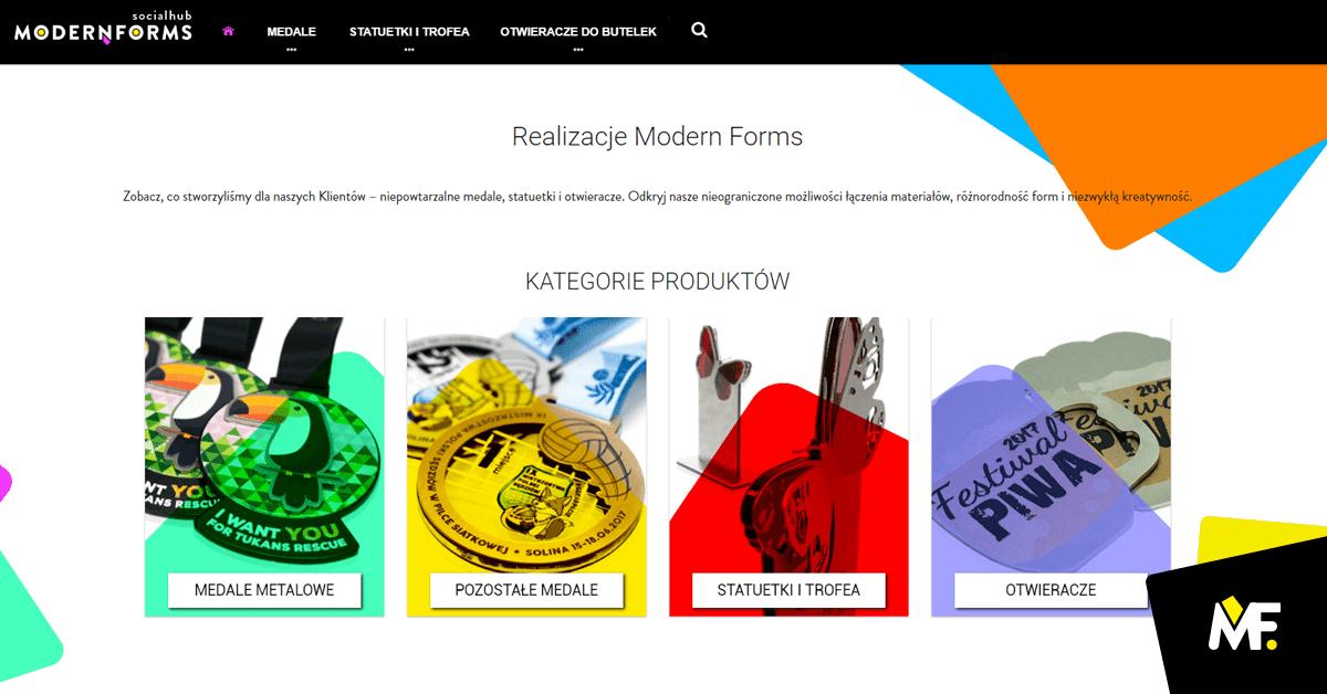 Realizacje unikatowych medali Modern Forms.
